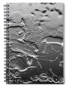 Engraved Snowman Playing The Piano Spiral Notebook