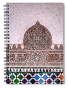 Engraved Writing And Colored Tiles No1 Spiral Notebook
