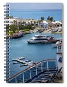 Enjoying The Harbor View Spiral Notebook