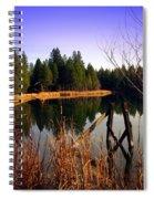 Enjoying The View At Grace Lake Spiral Notebook