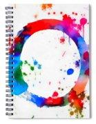 Enso Circle Paint Splatter Spiral Notebook