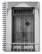 Enter In Black And White Spiral Notebook