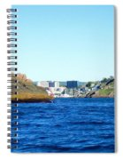 Entering The Narrows Near Fort Amherst Rock By Barbara Griffin Spiral Notebook