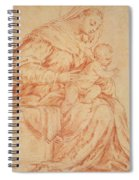 Enthroned Madonna And Child Spiral Notebook