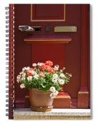 Entrance Door With Flowers Spiral Notebook