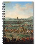 Entrance Of The Emperor Franz I Stephan And His Son Joseph II Into Frankfurt Spiral Notebook