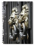Entrance To Brown Spiral Notebook