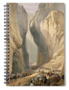 Entrance To The Bolan Pass From Dadur Spiral Notebook