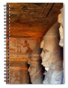 Entrance To The Great Temple Of Ramses II Spiral Notebook