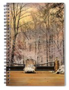Entrance To Winter Spiral Notebook