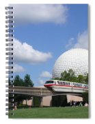 Epcot And The Monorail Ride Spiral Notebook