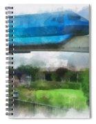 Epcot Globe And Blue Monorail Walt Disney World Photo Art 01 Spiral Notebook
