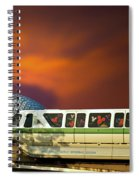 Epcot Riding The Rail Spiral Notebook