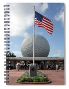 Epcot Usa Spiral Notebook