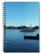 Epcot World Showcase Lagoon Panorama 01 Walt Disney World Spiral Notebook