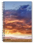 Epic Colorado Country Sunset Landscape Spiral Notebook
