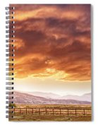 Epic Colorado Country Sunset Landscape Panorama Spiral Notebook