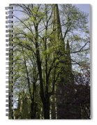 Episcopal Cathedral In Edinburgh Visible Through Trees Spiral Notebook