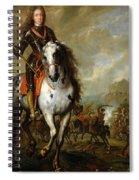 Equestrian Portrait Of Prince Eugene De Savoie 1663-1736 C.1700-10 Oil On Panel Spiral Notebook