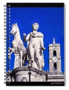 Equestrian Statue At Capitoline Hill Spiral Notebook