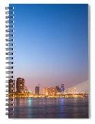 Erasmus Bridge In Rotterdam At Dusk Spiral Notebook
