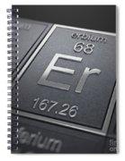 Erbium Chemical Element Spiral Notebook