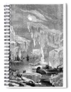 Erebus And Terror In The Ice 1866 Spiral Notebook
