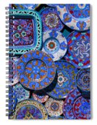 Erice Italy Plates Blue Spiral Notebook
