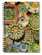 Erice Sicily Plates Yellow Spiral Notebook