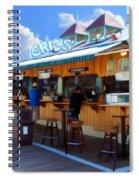 Erics On The Pier Spiral Notebook