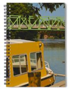 Erie Canal At Pittsford Ny Spiral Notebook