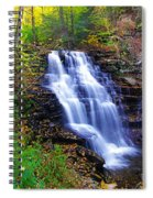 Erie Falls Vertical Panoramic Spiral Notebook