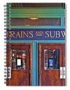 Erie Lackawanna Terminal Doors Hoboken Spiral Notebook