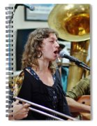 Erika Lewis With Tuba Skinny Spiral Notebook