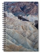 Erosional Landscape - Zabriskie Point Spiral Notebook
