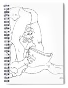 Erotic Art Drawing 9sp Spiral Notebook