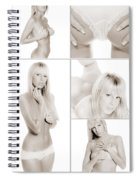 Erotic Beauty Collage 18 Spiral Notebook
