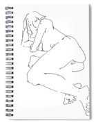 Erotic-female-drawings-21 Spiral Notebook