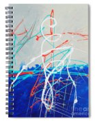 Erupting Blues Spiral Notebook