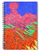 Erupting Lava Meets The Sea Spiral Notebook