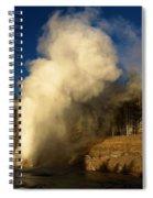 Eruption Along The Firehole Spiral Notebook