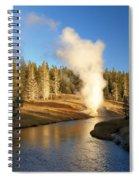 Eruption Along The Riverside Spiral Notebook