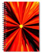 Eruption In Red Spiral Notebook