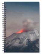 Eruption Of A Volcanoe At Night Spiral Notebook