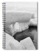 Eskimo Boys Ice Fishing Barrow Alaska  July 1969 Spiral Notebook