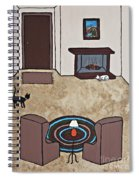 Essence Of Home - Cat By Fireplace Spiral Notebook