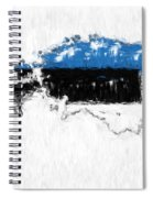 Estonia Painted Flag Map Spiral Notebook