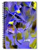 Etchings Of Purple And Green Spiral Notebook