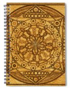 Eternity Mandala Leather Spiral Notebook