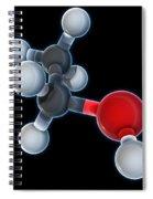 Ethanol Molecular Model Spiral Notebook